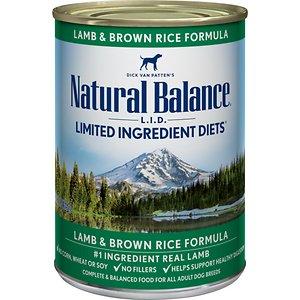 Natural Balance L.I.D. Limited Ingredient Diets Lamb & Brown Rice Formula Canned Dog Food