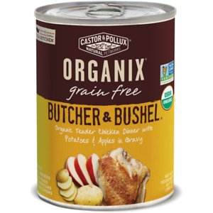 Castor & Pollux Organix Grain-Free Butcher & Bushel Organic Tender Chicken Dinner in Gravy Adult Canned Dog Food