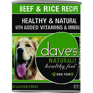 Dave's Pet Food Naturally Healthy Beef & Rice Recipe Canned Dog Food