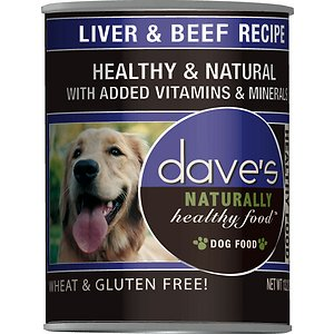 Dave's Pet Food Naturally Healthy Liver & Beef Recipe Canned Dog Food