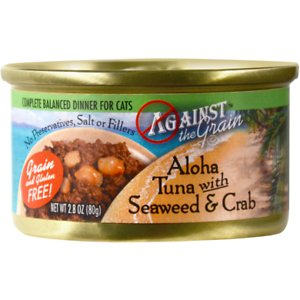 Against the Grain Aloha Tuna with Seaweed & Crab Dinner Grain-Free Canned Cat Food