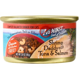 Against the Grain Shrimp Daddy with Tuna & Salmon Dinner Grain-Free Canned Cat Food