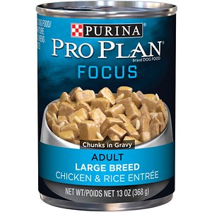 Purina Pro Plan Focus Adult Large Breed Chicken & Rice Entree Chunks in Gravy Canned Dog Food