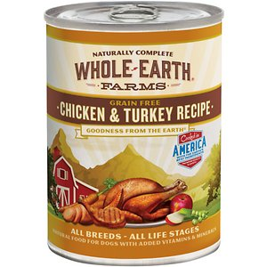 Whole Earth Farms Grain-Free Chicken & Turkey Recipe Canned Dog Food