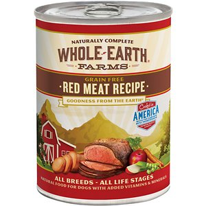 Whole Earth Farms Grain-Free Red Meat Recipe Canned Dog Food