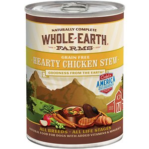 Whole Earth Farms Grain-Free Hearty Chicken Stew Canned Dog Food