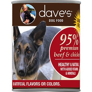 Dave's Pet Food 95% Premium Meats Grain-Free Beef & Chicken Recipe Canned Dog Food