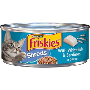 Friskies Savory Shreds with Whitefish & Sardines in Sauce Canned Cat Food
