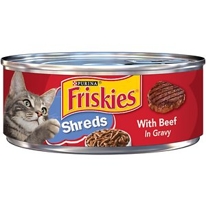Friskies Savory Shreds with Beef in Gravy Canned Cat Food