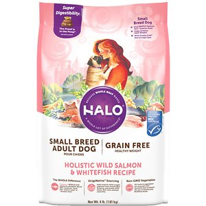 Halo Holistic Healthy Weight Small Breed Grain-Free Wild Salmon & Whitefish Dry Dog Food