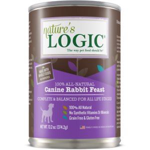 Nature's Logic Canine Rabbit Feast All Life Stages Grain-Free Canned Dog Food