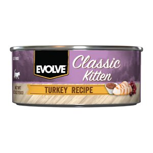 Evolve Classic Kitten Turkey Recipe Canned Cat Food