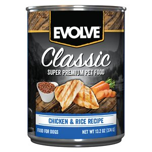 Evolve Classic Chicken & Rice Recipe Canned Dog Food