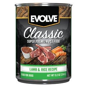 Evolve Classic Lamb & Rice Recipe Canned Dog Food