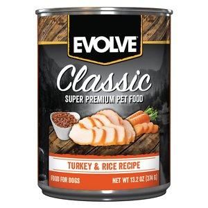 Evolve Classic Turkey & Rice Recipe Canned Dog Food