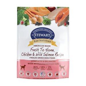 Stewart Raw Naturals Chicken & Salmon Recipe Grain-Free Freeze-Dried Dog Food