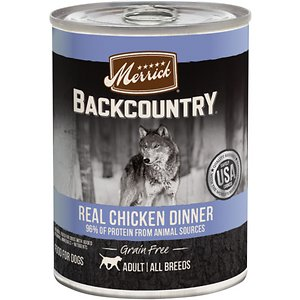 Merrick Backcountry Grain Free Wet Dog Food 96% Real Chicken Recipe