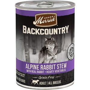 Merrick Backcountry Grain Free Wet Dog Food Alpine Rabbit Stew
