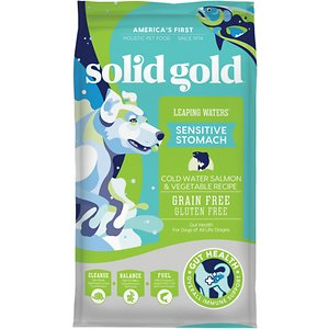 Solid Gold Leaping Waters Sensitive Stomach Grain-Free Cold Water Salmon & Vegetable Dry Dog Food