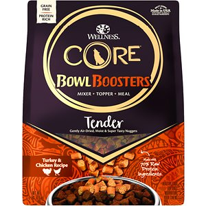 Wellness CORE Bowl Boosters Tender Turkey & Chicken Recipe Meal or Mixer Air Dried Grain-Free Dog Food