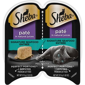 Sheba Perfect Portions Grain-Free Pate Signature Seafood Entree Cat Food Trays