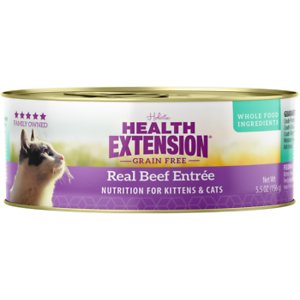 Health Extension Grain-Free Real Beef Entree Canned Cat Food