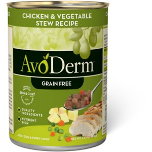 AvoDerm Natural Grain-Free Chicken & Vegetable Stew Recipe Adult & Puppy Canned Dog Food