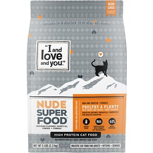 I and Love and You Nude Food Poultry a Plenty Grain-Free Dry Cat Food