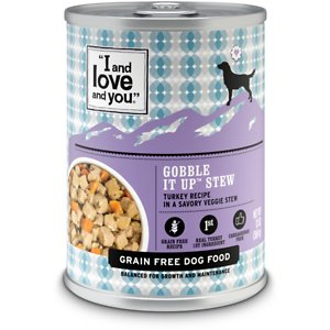 I and Love and You Gobble It Up Stew Grain-Free Canned Dog Food