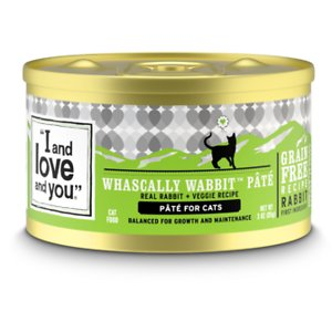 I and Love and You Whascally Wabbit Pate Grain-Free Canned Cat Food