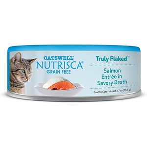 Nutrisca Grain-Free Truly Flaked Salmon Entree in Savory Broth Canned Cat Food