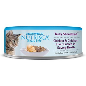 Nutrisca Grain-Free Truly Shredded Chicken & Chicken Liver Entree in Savory Broth Canned Cat Food