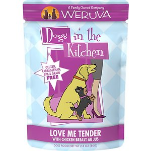 Weruva Dogs in the Kitchen Love Me Tender with Chicken Breast Au Jus Grain-Free Dog Food Pouches