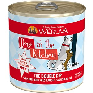 Weruva Dogs in the Kitchen The Double Dip with Beef & Wild Caught Salmon Au Jus Grain-Free Canned Dog Food