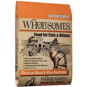 SPORTMiX Wholesomes Chicken Meal & Rice Formula Adult Dry Cat Food
