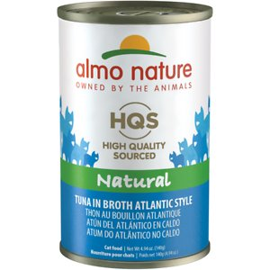 Almo Nature HQS Natural Tuna Atlantic Style in Broth Grain-Free Canned Cat Food