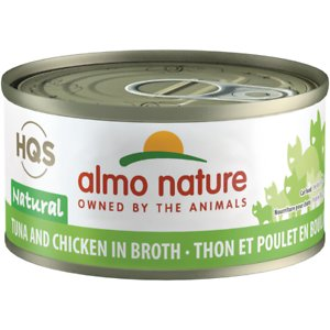 Almo Nature HQS Natural Tuna & Chicken in Broth Grain-Free Canned Cat Food