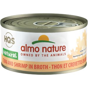 Almo Nature HQS Natural Tuna & Shrimp in Broth Grain-Free Canned Cat Food
