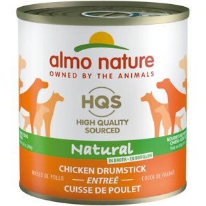Almo Nature HQS Natural Chicken Drumstick Adult Canned Dog Food