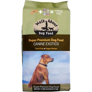 Walk About Canine Exotics Vegan Recipe Grain-Free Dry Dog Food