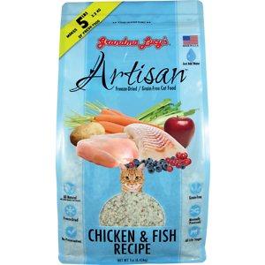 Grandma Lucy's Artisan Grain-Free Chicken & Fish Freeze-Dried Cat Food