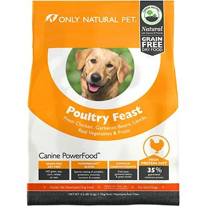Only Natural Pet Canine PowerFood Poultry Feast Grain-Free Dry Dog Food