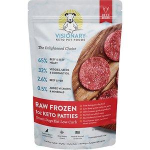 Visionary Pet Foods Raw Frozen Keto Beef Recipe Sliders Adult Dog Food