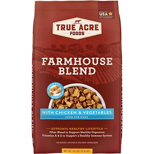 True Acre Foods Farmhouse Blend with Chicken & Vegetables Dry Dog Food