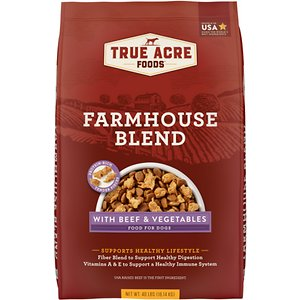 True Acre Foods Farmhouse Blend with Beef & Vegetables Dry Dog Food