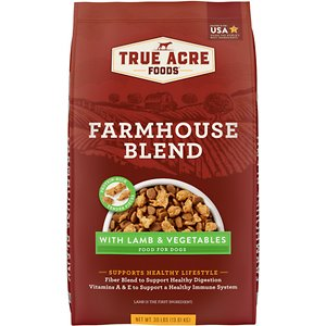 True Acre Foods Farmhouse Blend with Lamb & Vegetables Dry Dog Food