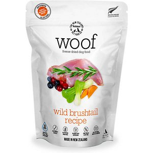 The New Zealand Natural Pet Food Co. Woof Wild Brushtail Recipe Grain-Free Freeze-Dried Dog Food