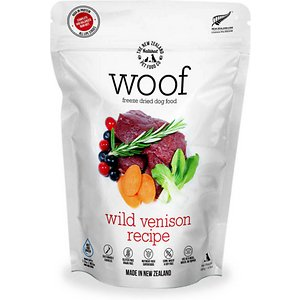 The New Zealand Natural Pet Food Co. Woof Wild Venison Recipe Grain-Free Freeze-Dried Dog Food