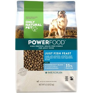 Only Natural Pet PowerFood Just Fish Feast Grain-Free Dry Dog Food
