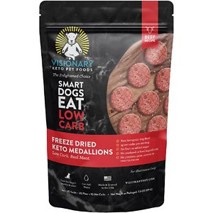 Visionary Pet Foods Keto Medallions Beef Recipe Grain-Free Freeze-Dried Dog Food